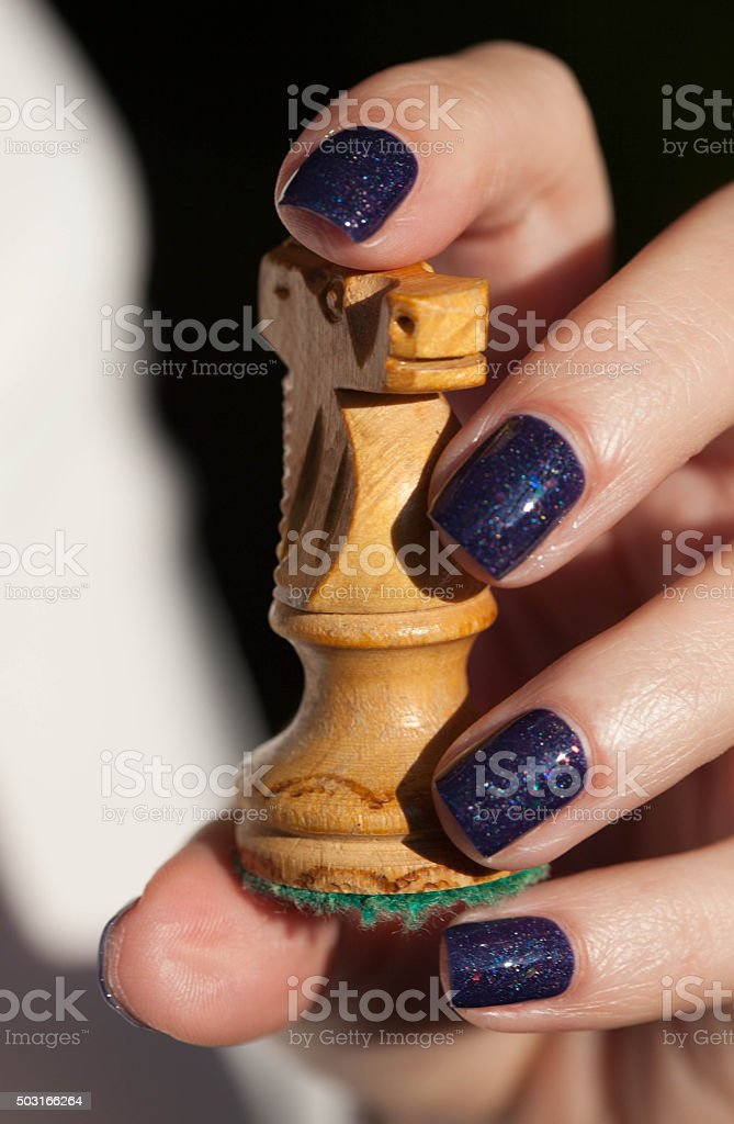 Chess for female stock photo