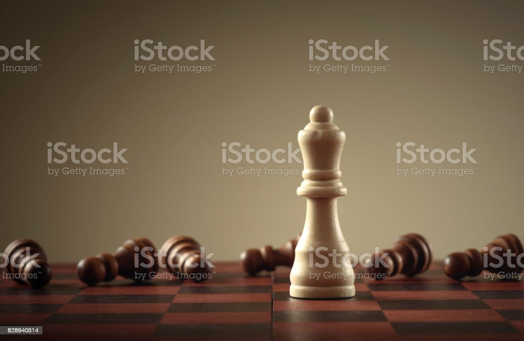 Chess game. Business concept of leadership stock photo