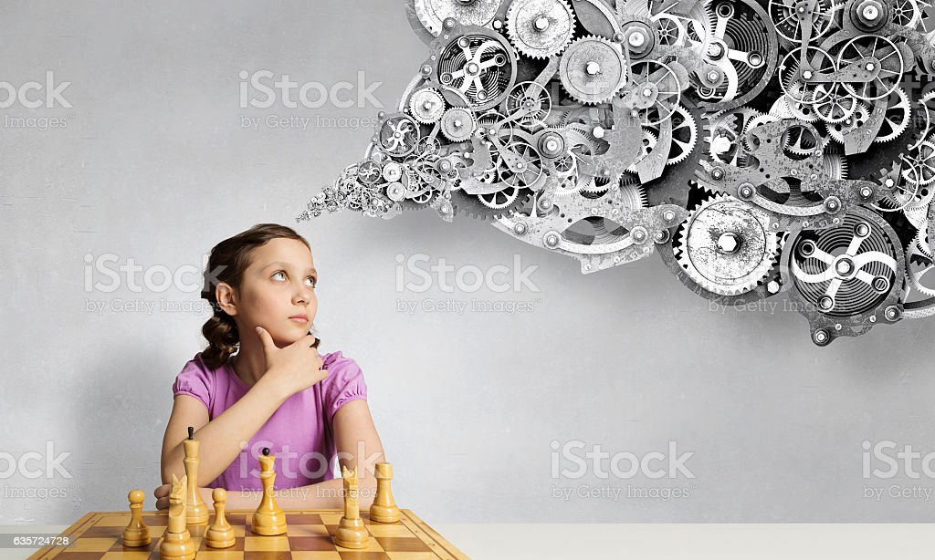 Chess game for clever mind . Mixed media stock photo