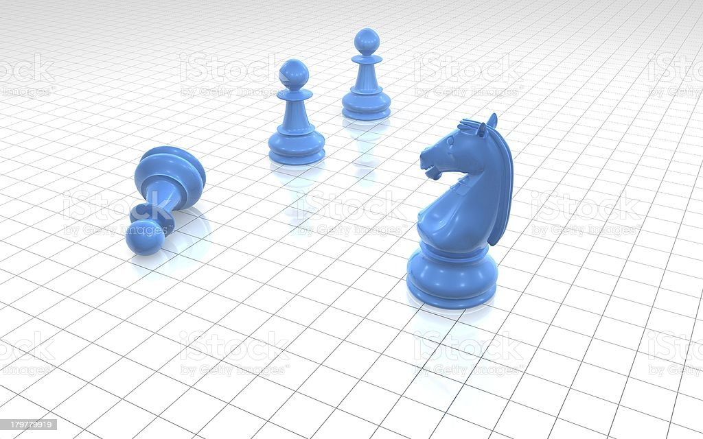 Chess game leadership concept royalty-free stock photo