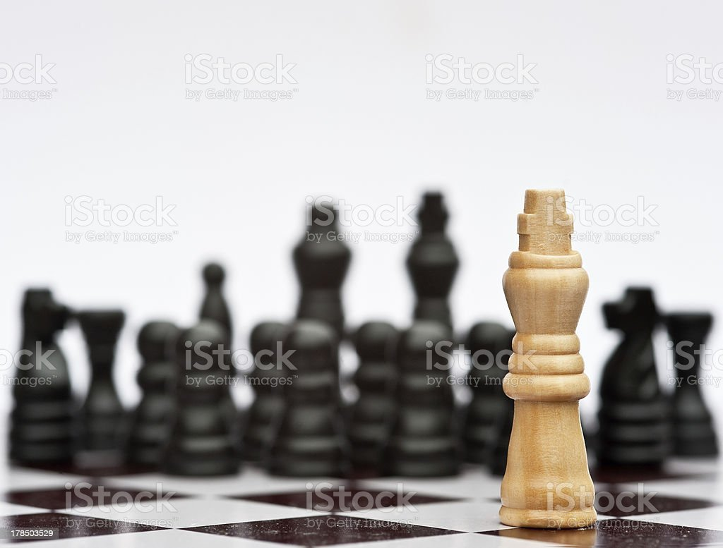 Chess game of strategy business concept application royalty-free stock photo