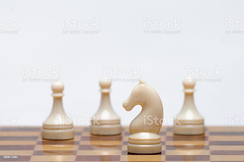 Chess game stock photo