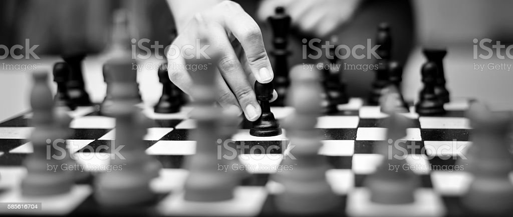 Chess Game Thinking Hobbies Leisure Concept stock photo