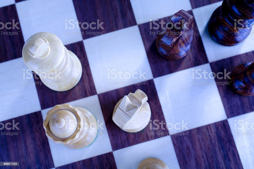 Chess Game Tungsten Process Discussion royalty-free stock photo