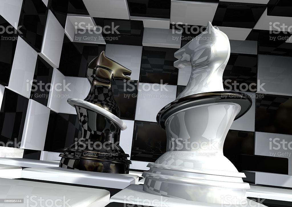 Chess Horses stock photo