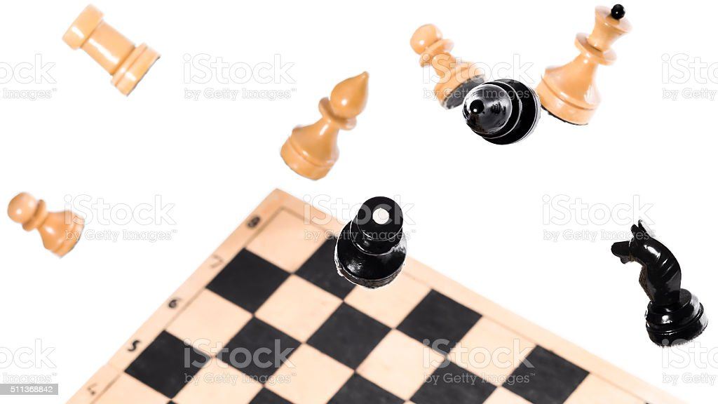 Chess in the air stock photo