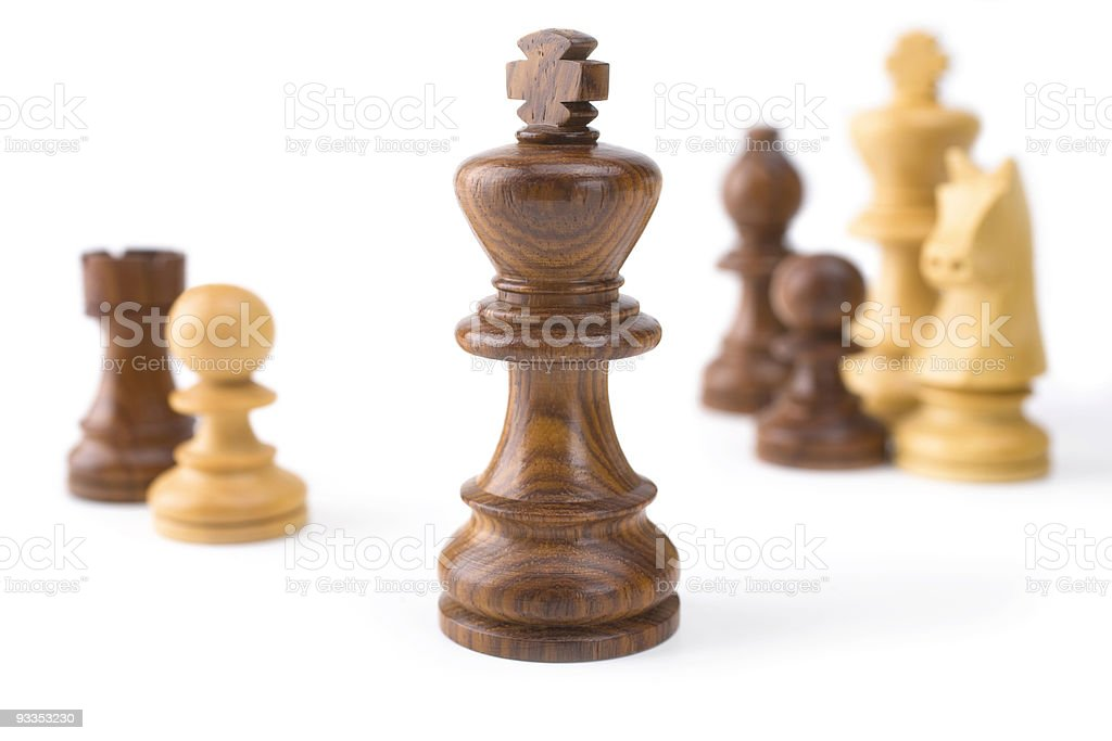 Chess King and Other Pieces royalty-free stock photo