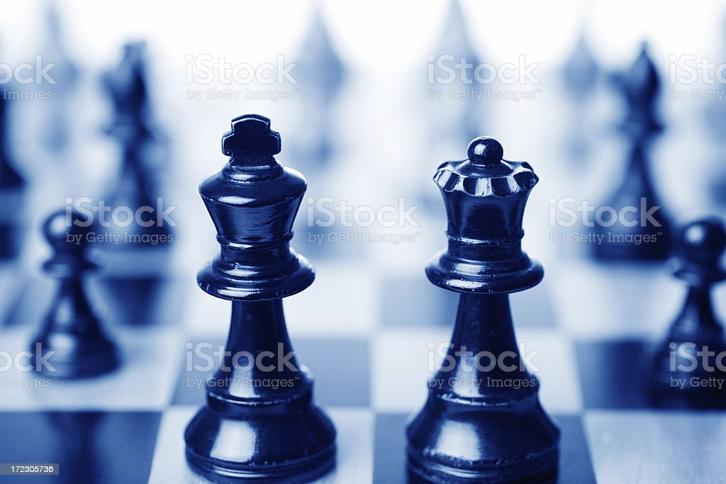 Chess King and Queen stock photo