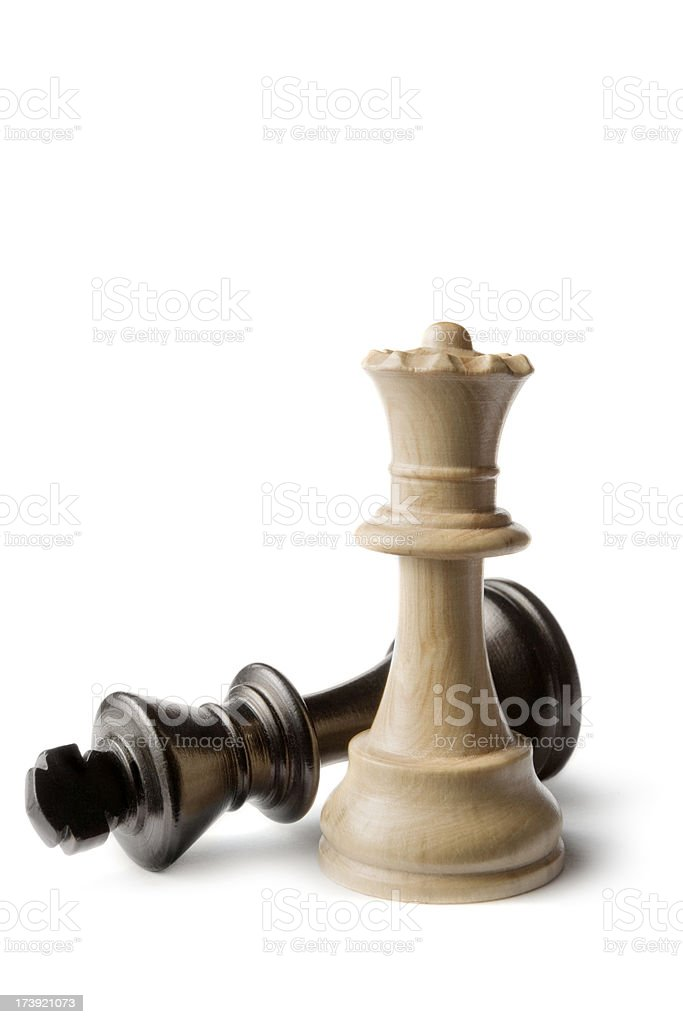 Chess: King and Queen stock photo