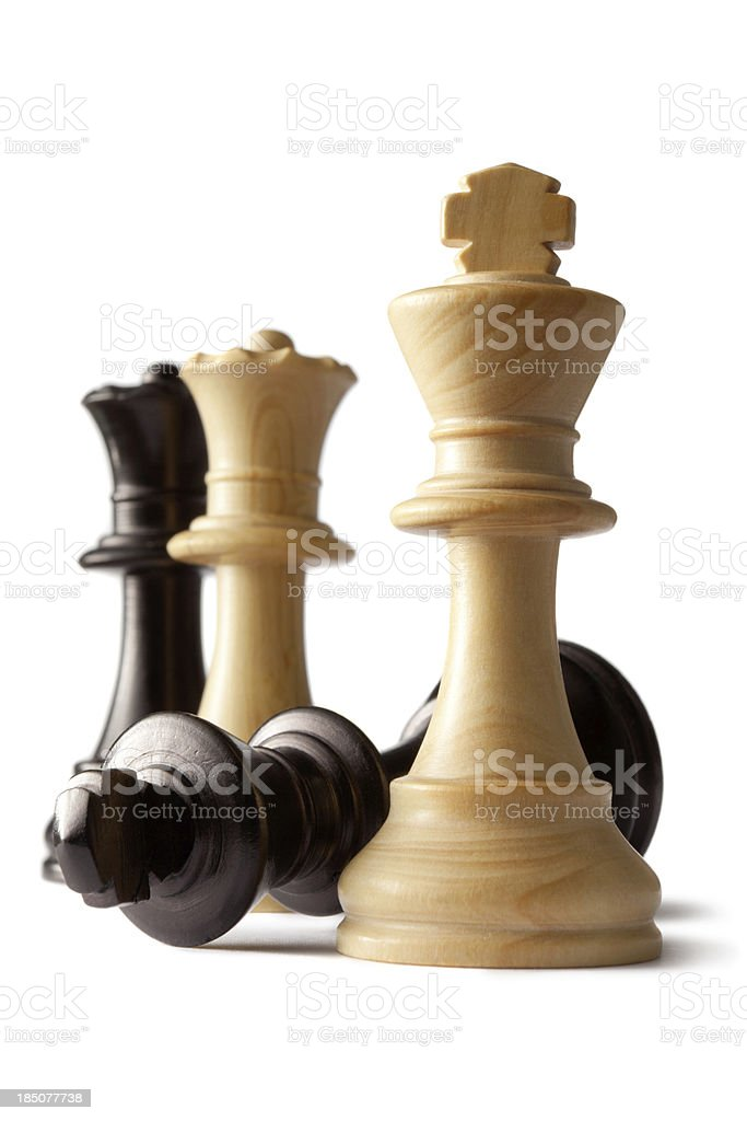 Chess: King and Queens stock photo