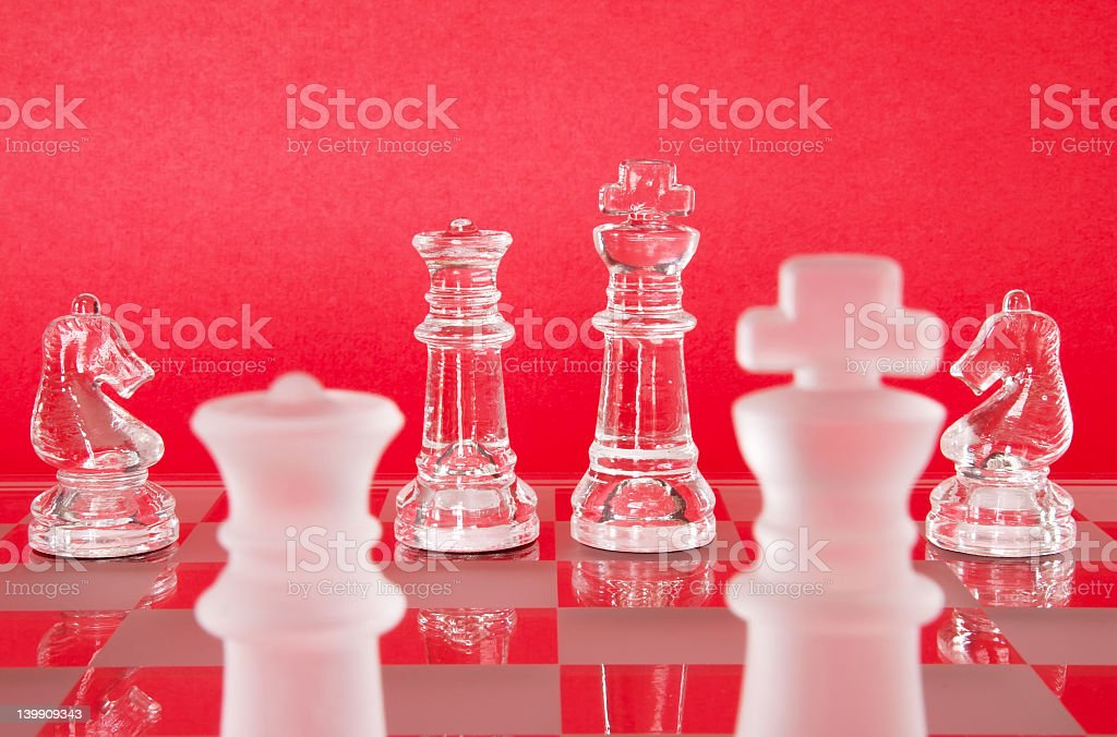 Chess King Queen Knights royalty-free stock photo