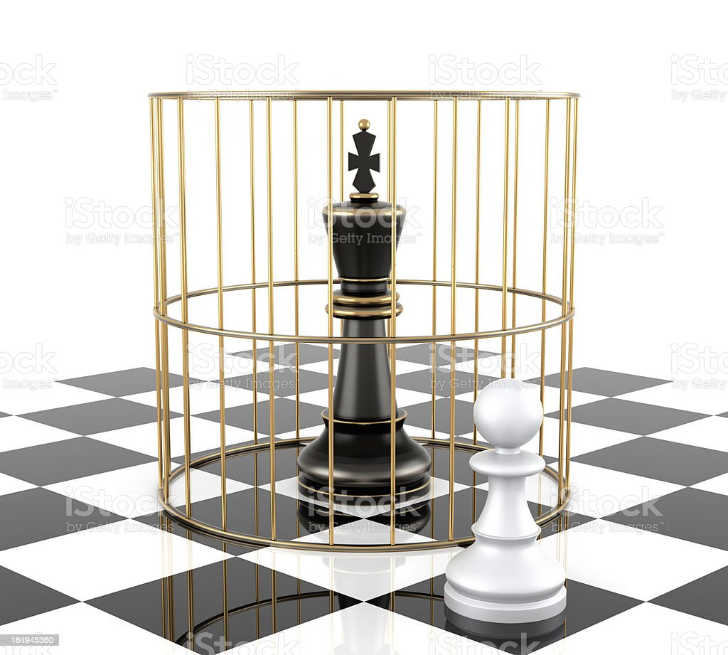 Chess King to Protect stock photo