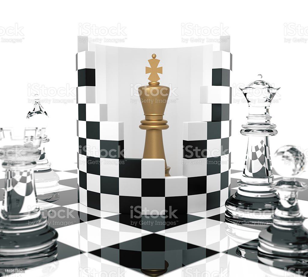Chess King to Protect royalty-free stock photo