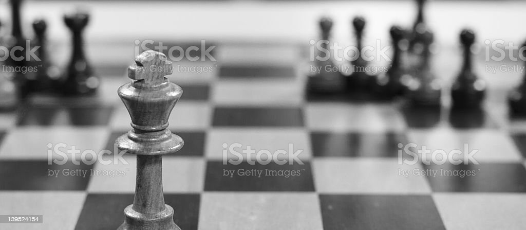 Chess King with space stock photo