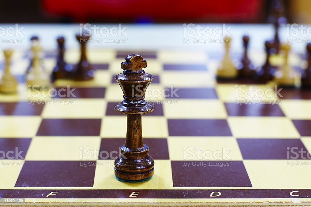 Chess King with space royalty-free stock photo
