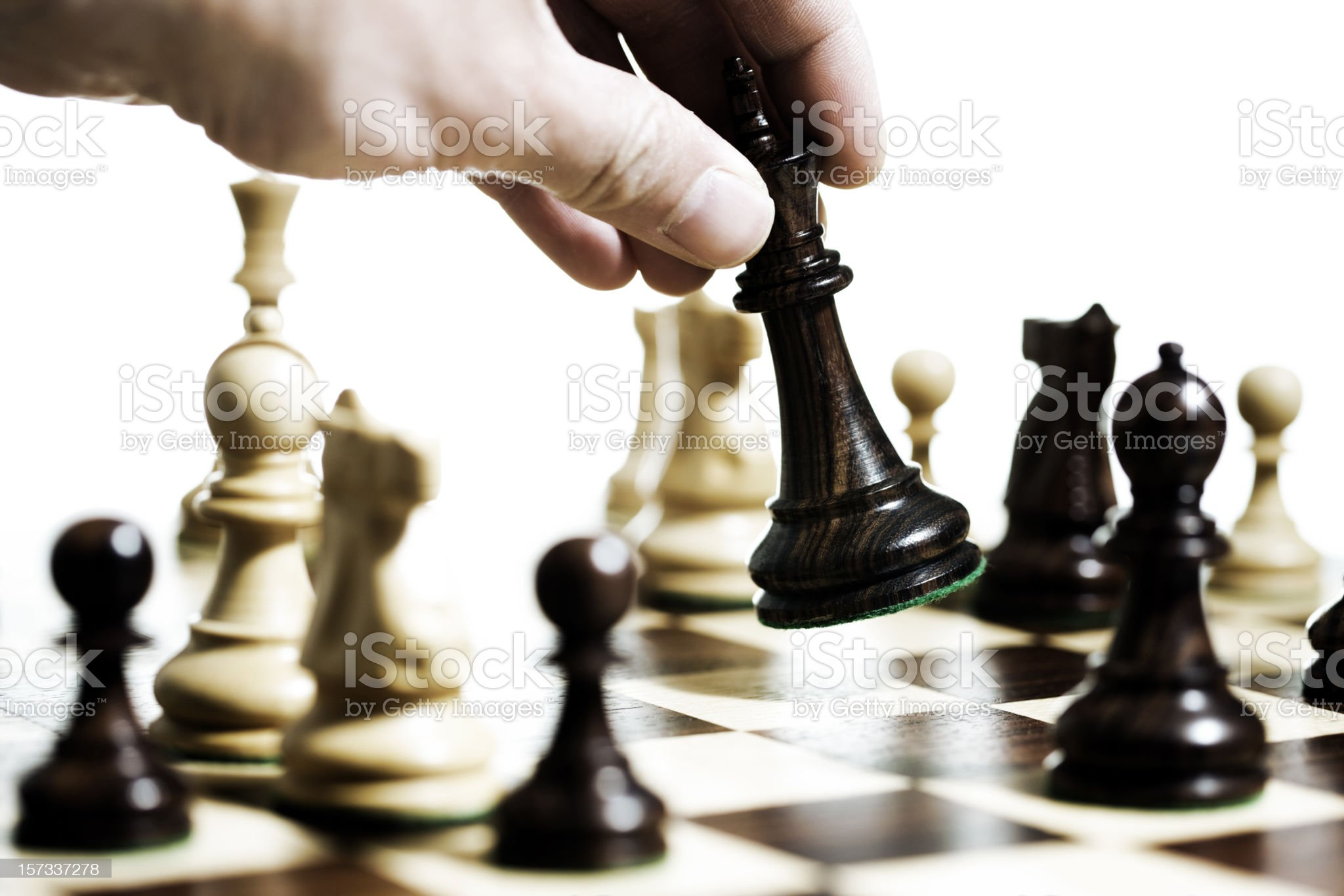 Chess, king's move royalty-free stock photo