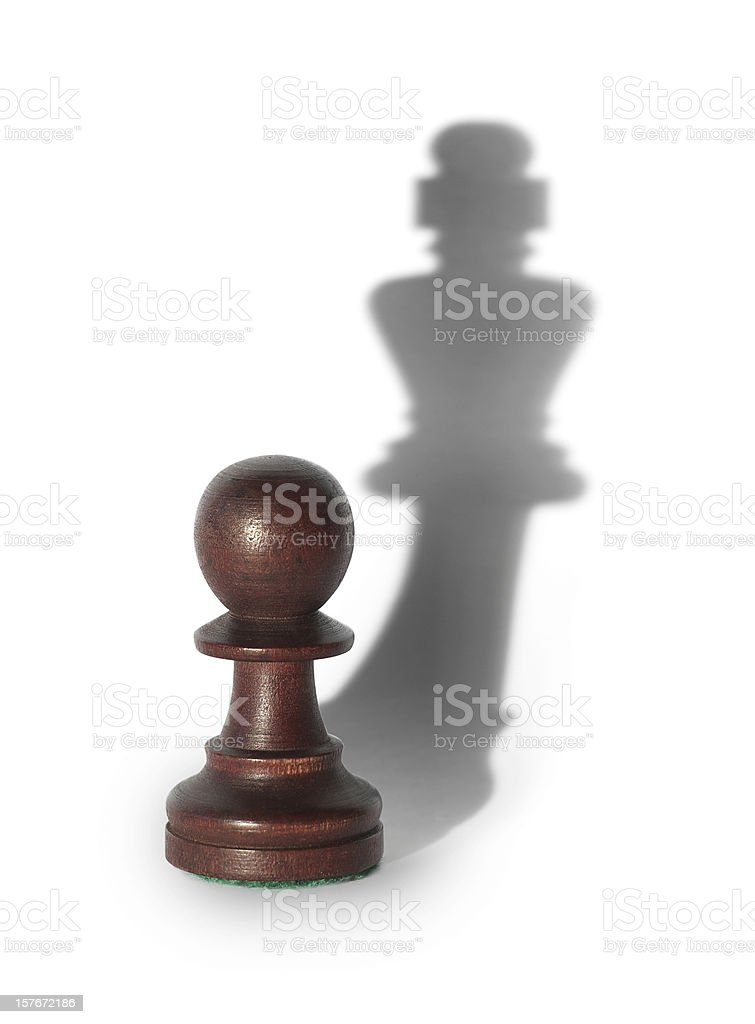 chess king's shadow stock photo