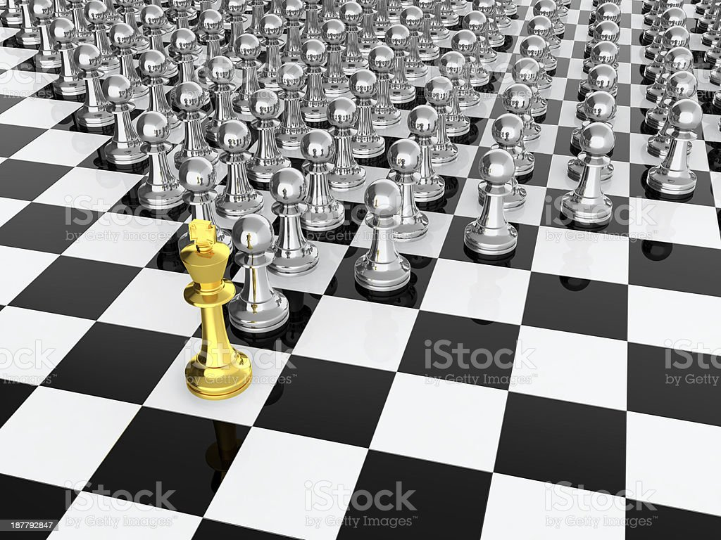 Chess leader stock photo
