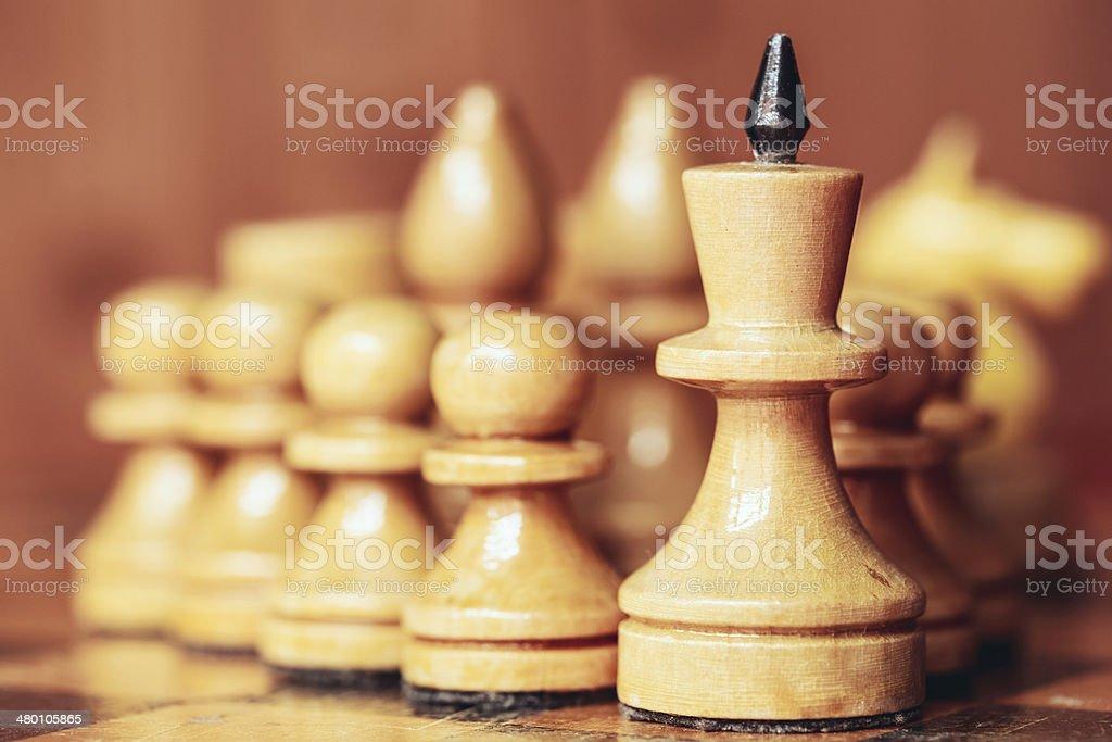 Chess leader stock photo