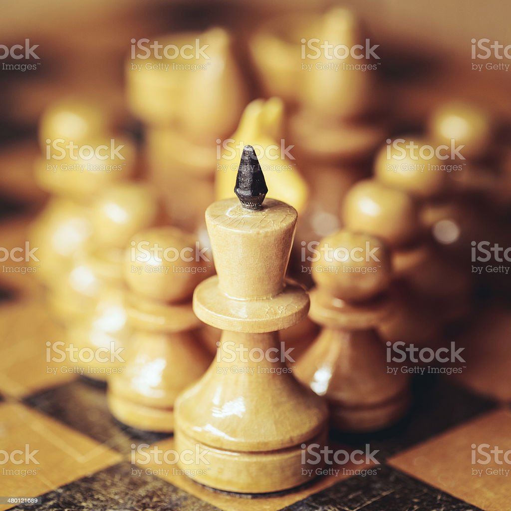 Chess leader royalty-free stock photo