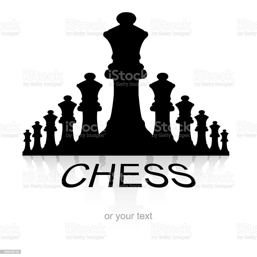 Chess logotype stock photo