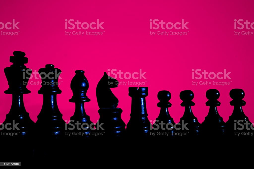 Chess major and pawns stock photo