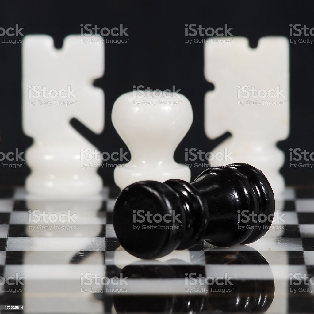 chess master and board stock photo