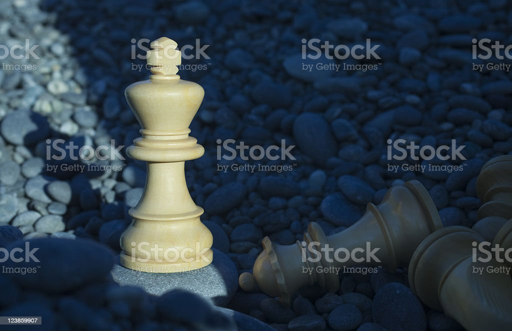 Chess Outside Success Victory  Last Man Standing Pebbles Beach stock photo