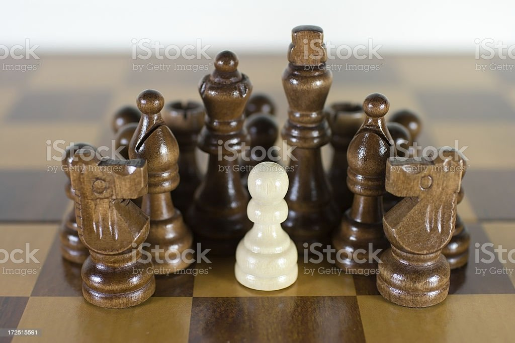 Chess Pawn Surrounded royalty-free stock photo