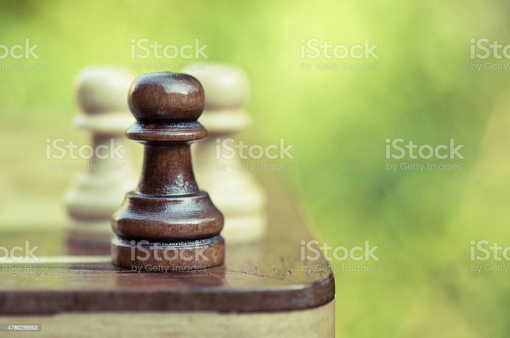 chess pawns on the board royalty-free stock photo