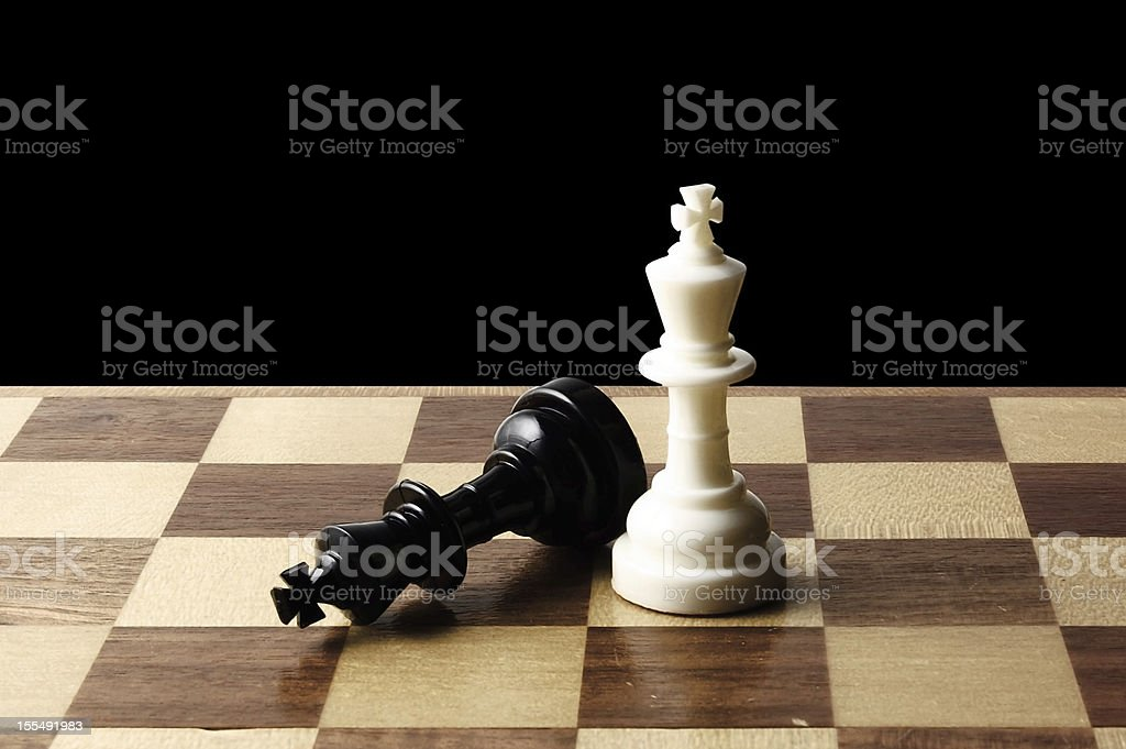 Chess piece was placed on the chessboard stock photo