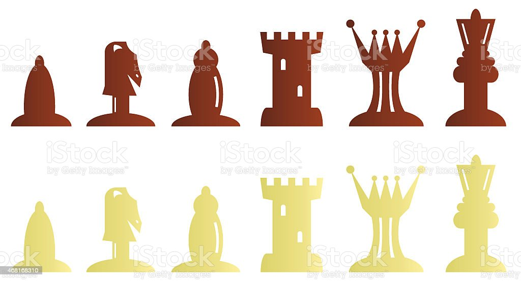 Chess pieces bitmap illustration stock photo