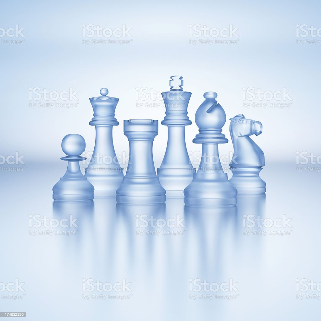 Chess Pieces of Glass XL+ stock photo