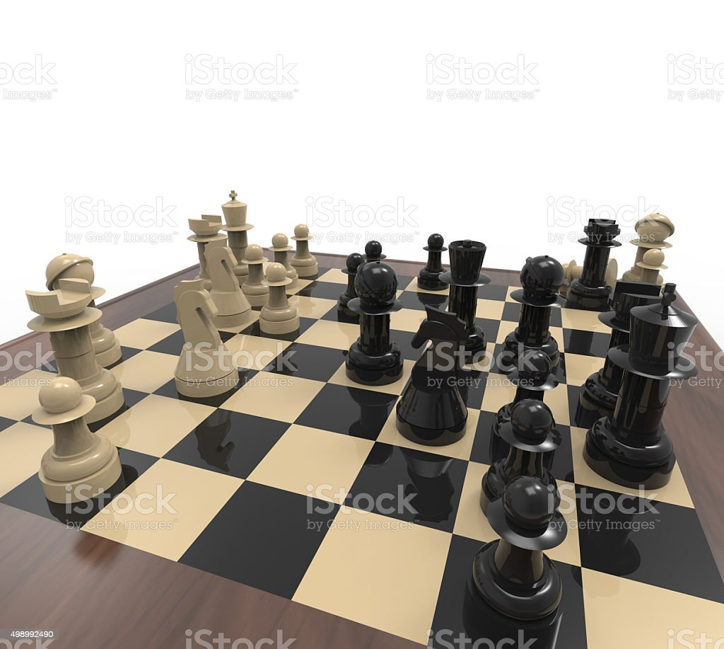 chess pieces on chess and back ground stock photo