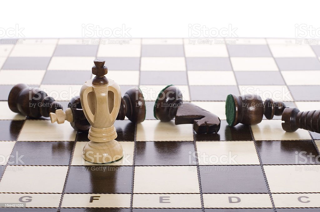 Chess pieces on the board. royalty-free stock photo