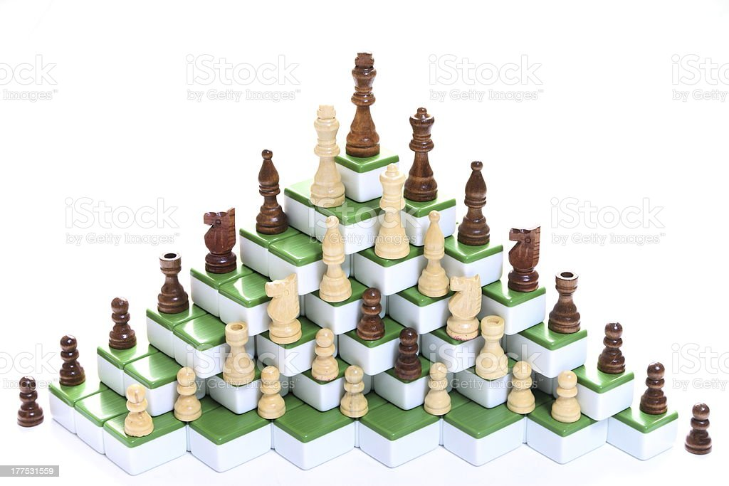 chess pieces royalty-free stock photo
