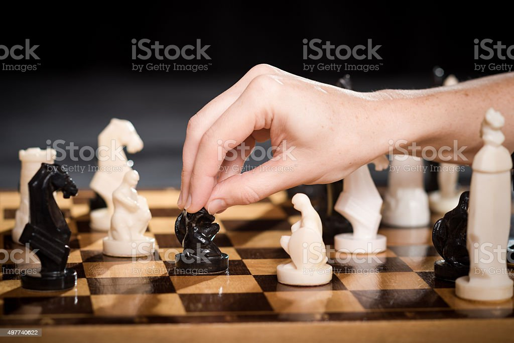 Chess  playing stock photo