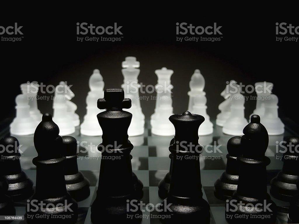 Chess scenario royalty-free stock photo