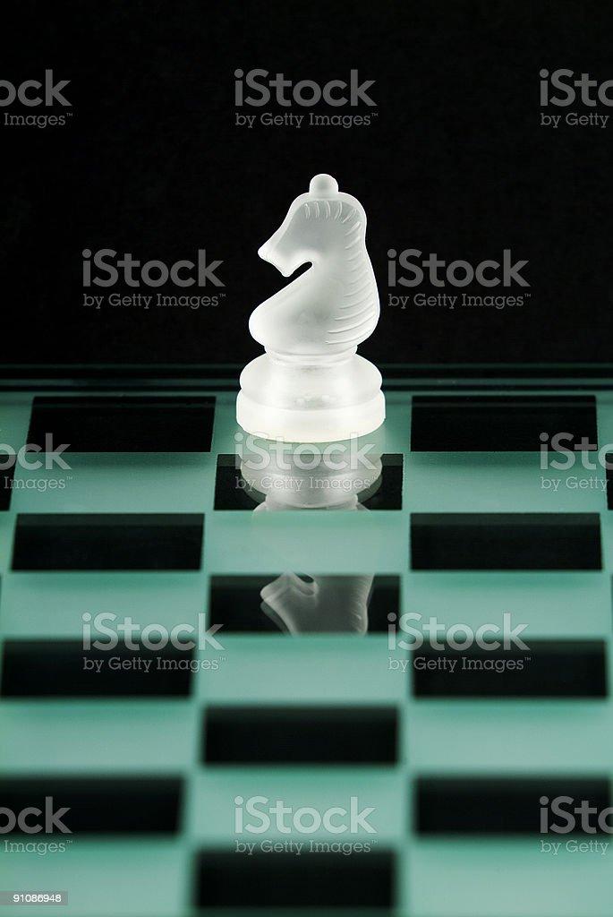 Chess Series - Knight royalty-free stock photo