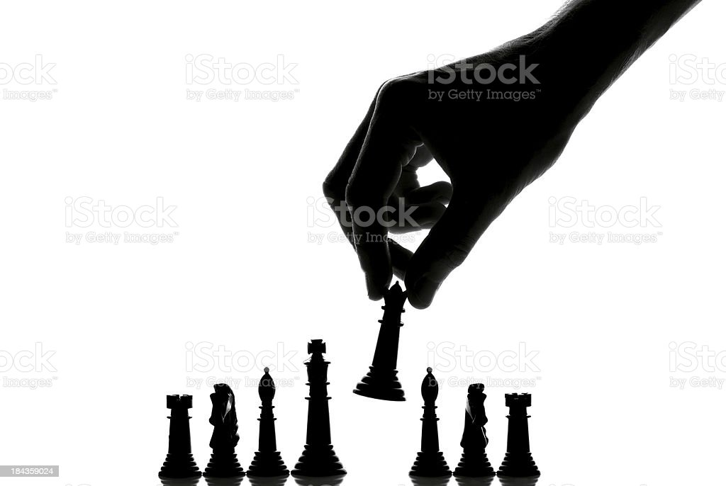 Chess silhouette stock photo