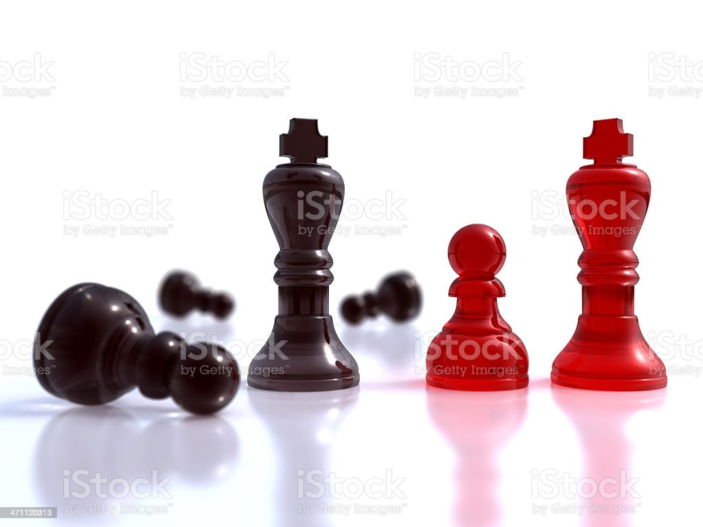 Chess situation royalty-free stock photo
