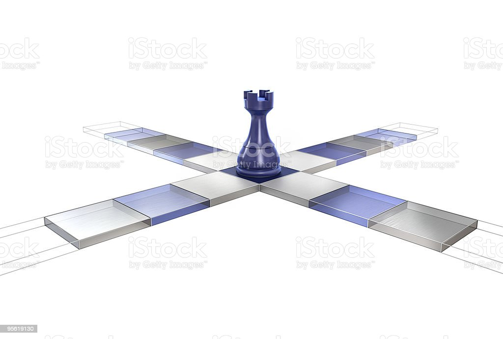 3D Chess Strategy Rook stock photo