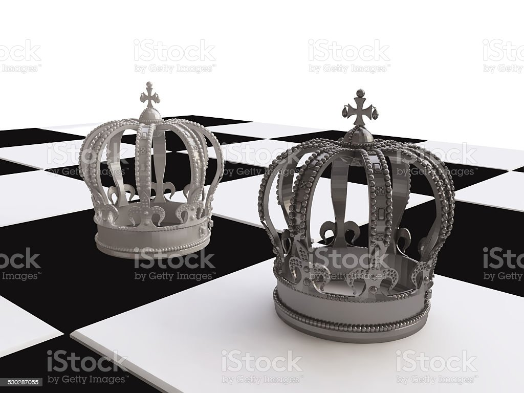 Chess strategy with Chess Kings stock photo