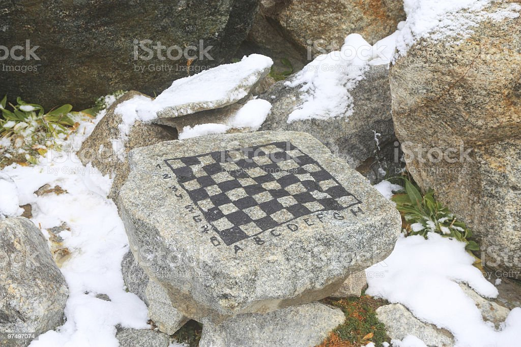 chess table stock photo
