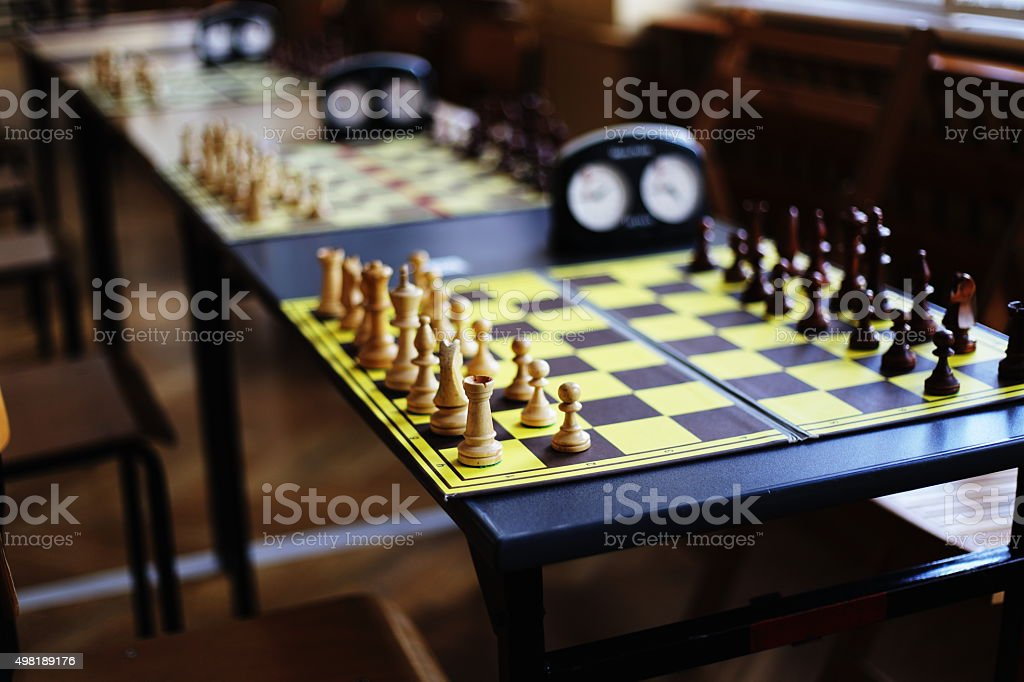 chess tables royalty-free stock photo