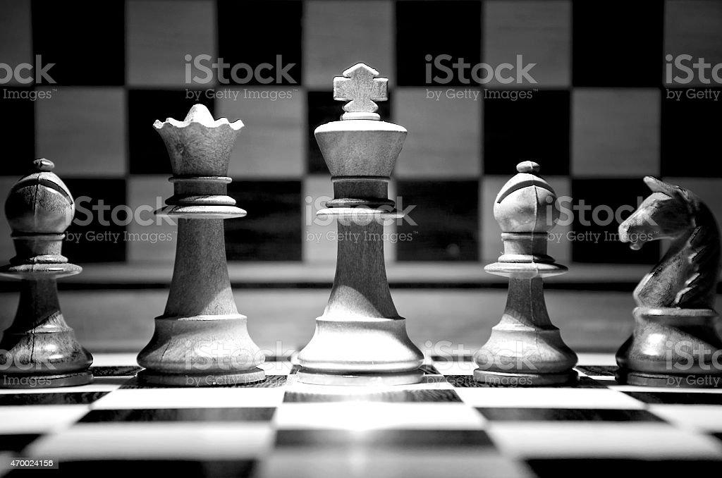 Chess team stock photo