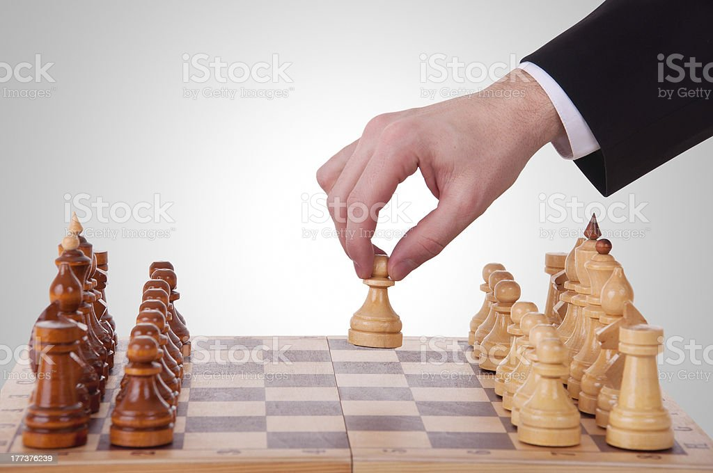 chess. The first step royalty-free stock photo