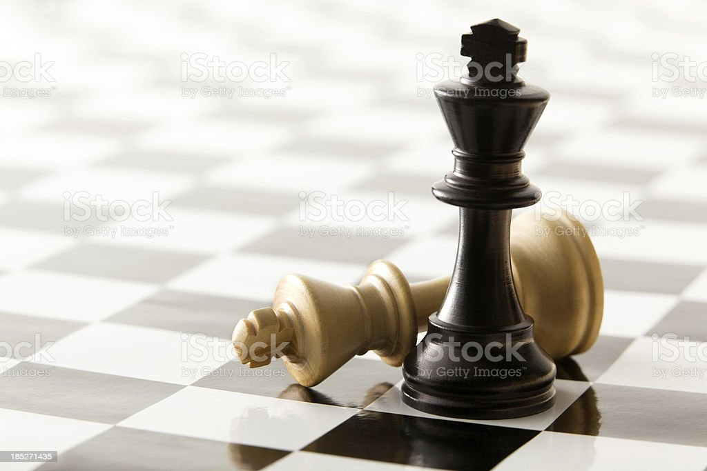 Chess: Two Kings on Board stock photo