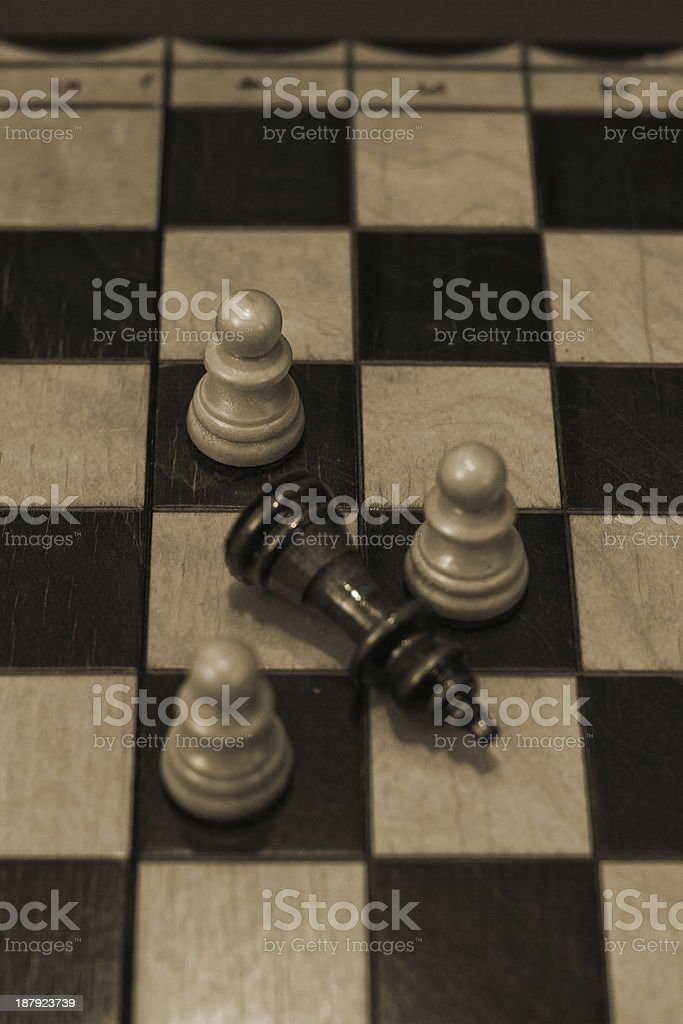 Chess Victory royalty-free stock photo