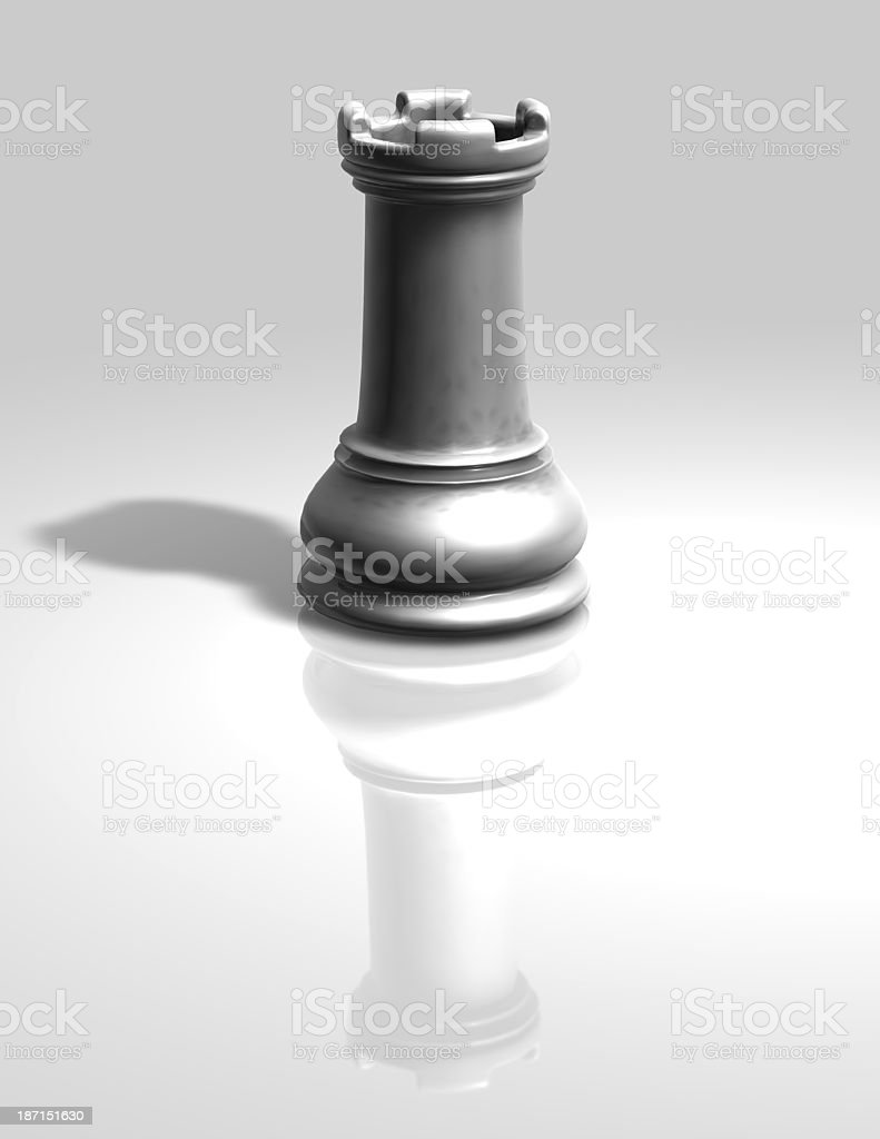 chess white tower isolated illustration royalty-free stock photo